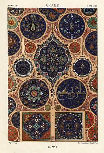 010-Ornamentos policromados arabes-Das polychrome Ornament…1875