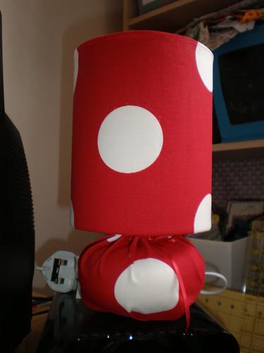 Polka dot lamp