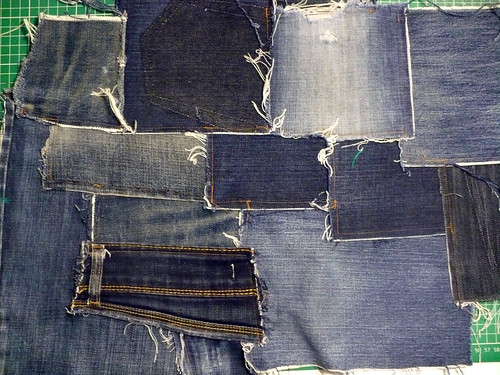 After the denim came out of the machine