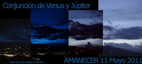 Venus y Júpiter al amanecer, entre las 4:30 y las 5 am.