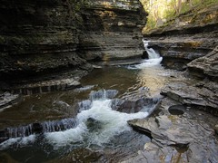 Buttermilk Falls, May 9 (inklings and imprints) Tags: ny newyork nature river waterfall spring scenery upstate upstateny waterfalls cny upstatenewyork gorge centralnewyork ithaca gorges fingerlakes tompkinscounty centralny buttermilkfallsstatepark