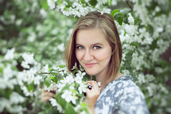 Sheep. (Yagoda.) Tags: portrait people woman flower tree me nature girl face whiteflower russia bokeh moscow blossoms canon5d russian canon50mm14 russiangirl canoneos5dmarkii irinafedinaphotography