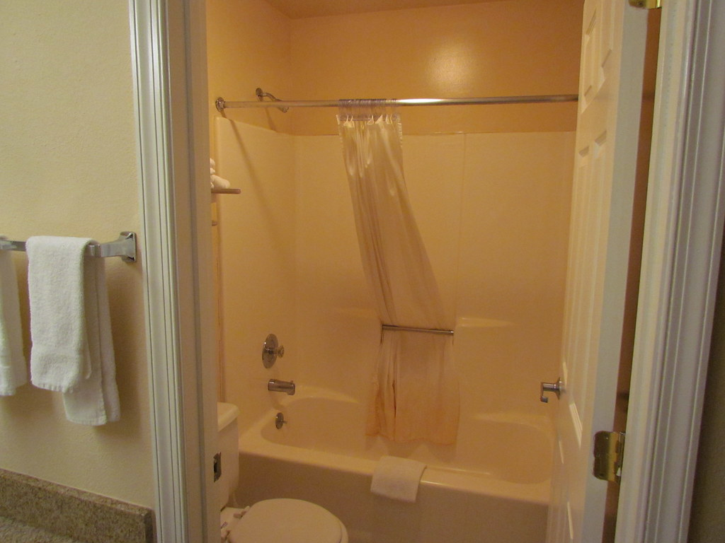 The Bathroom in My Room at the Roadway Inn -- Shippensburg, PA, June 10, 2011