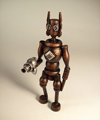 Steampunk Evil Robot Firing Retro Ray Gun Wood Statue (Builders Studio) Tags: wood fiction sculpture mars art classic self trek comics toy death star punk gun ray technology hand geek arm tech space painted side alien rifle science ufo retro steam nasa replica weapon pistol scifi laser stunner pulp wars rogers buck defense prop martian geekery raygun invaders blaster phaser steampunk
