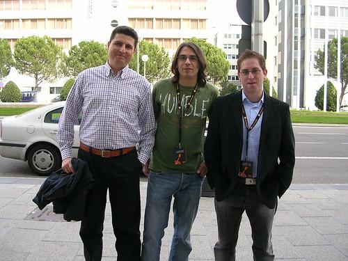 Javier Martín, Gregorio López y yo en el OME 2008