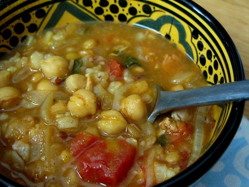 the main dish chickpea stew