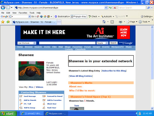 shawnee myspace