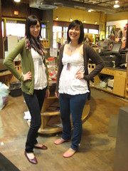 Andrienne and I wore almost the same thing (Dbleplus) Tags: girls me urbanoutfitters womens manager adrienne clarkstreet teamlead store17