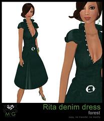 [MG fashion] Rita denim dress (forest)