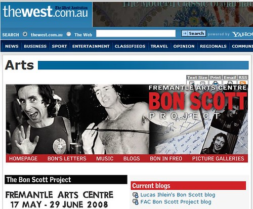 the west feature on bon scott project