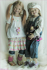 Tetti and Lillemore (MiriamBJDolls) Tags: doll tetti himstedt lillemore
