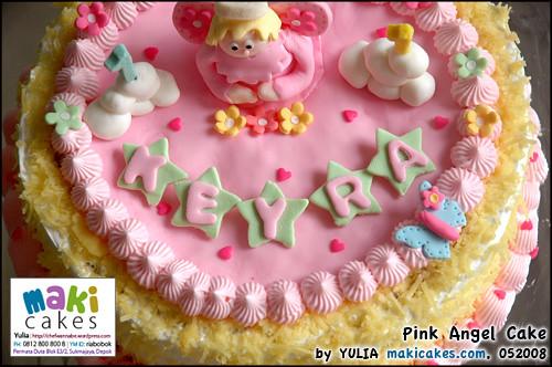 Fondan Angel Cake - Maki Cakes