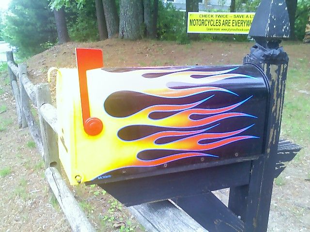 Mail Box: Elaborate Flames