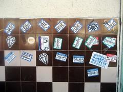 (kewlio) Tags: sanfrancisco graffiti sticker notes oz diamond question burner chue srt whore24