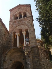 Me in a Byzantine church tower (steven_and_haley_bach) Tags: me myself dad steven byzantine mystras sixthday mistras greecevacation byzantineruins