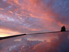 Clouds reflected (Le.Mat) Tags: brussels sky clouds mirror spiegel wolken bruxelles ciel lucht miroir nuages brussel velux