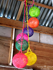 Handmade colorful balls