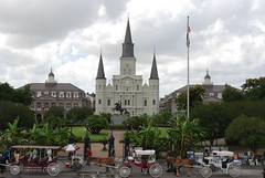 New Orleans June 2008 (Karens Photography (hyperblondie_84)) Tags: new city flowers water buildings river mississippi boats aquarium boat orleans louisiana downtown cathedral south chruch fairy trolly americas