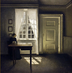 Interior with a Lady, Vilhelm Hammershoi, 1901 (Tiz_herself) Tags: sunlight art window michigan sewing paintings detroit dia museums detroitinstituteofarts