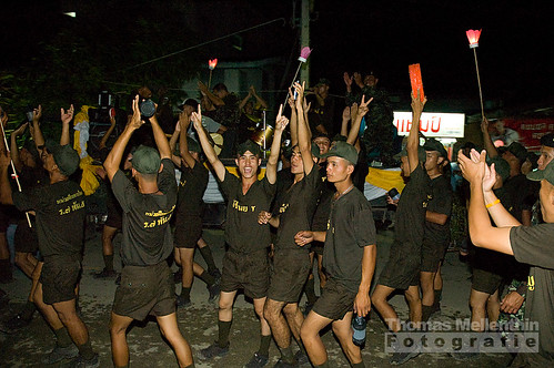 Pai army (celebrating loy krathong)