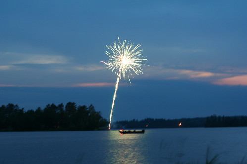 Fireworks on Lake Vermilion