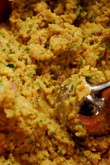 zucchini falafel mixture©