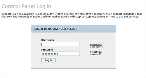 Web2Mail Control Panel Login