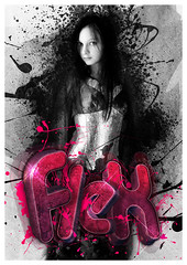 Flex 3D Typography (flexgraph) Tags: pink woman black rose photoshop asian typography design 3d noir graphic font flex xara typographie flexgraph