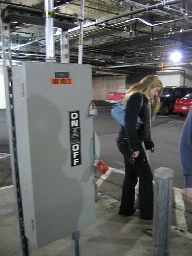 480 volt switch in parking garage