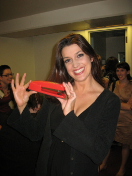 6d6118d97b123 Suebob s Red Stapler  The red Swingline stapler with Lindsay Ferrier ...