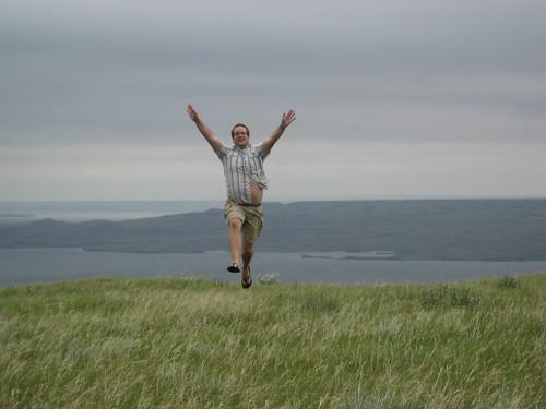 Marc Prancing on Cliffs