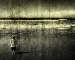 Young Boy and the Sea II (Eric Vondy) Tags: ocean sea beach coast se