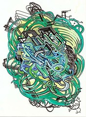 energy knot (Alkaline Samurai) Tags: wild urban abstract art modern pen ink japanese graphic modernart style warrior psychedelic copic detailed micron intricate inkart urbanfolkart verydetailed mulitliner