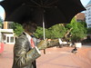 Taxi! (Phillie Casablanca) Tags: art statue oregon portland taxi pioneercourthousesquare hailing