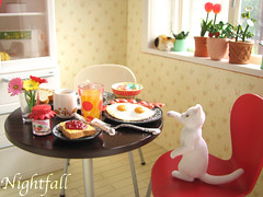 Re-Ment Contest Entry (esmereldes) Tags: cats breakfast cat toy toys miniatures miniature kitty mini rement photocontest dollhouse day271 img7742 dioramma rementhouse 365toyproject puchihousing rementcontest rementphotocontest