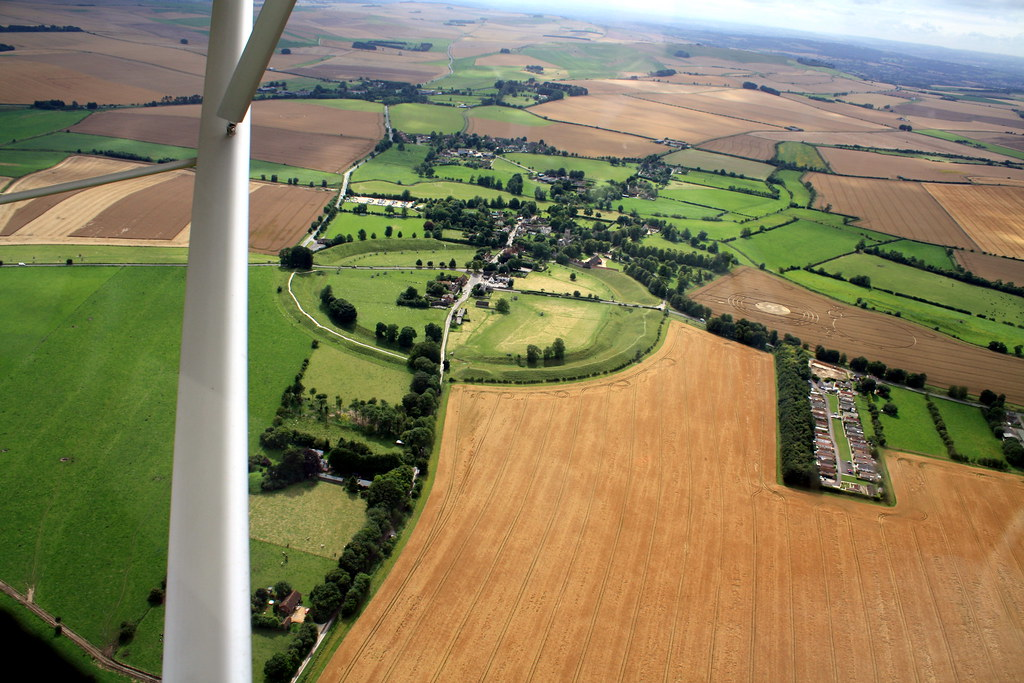 Microlight Flight Over Wiltshire