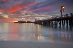 Santa Barbara Sunrise (PatrickSmithPhotography) Tags: longexposure travel sea wallpaper vacation seascape beach santabarbara sunrise pier sand seascapes canon5d santabarbarapier 1740l stearnswharf californialandscape landscapephotography californiaseascape seascapephotography