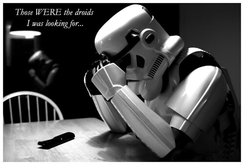 You cant help but feel a little bad for this weak-minded stormtrooper...