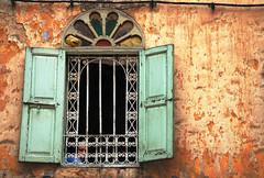 ... (NikAt) Tags: woman color window colors wall morocco fez madina maroc 2008 marruecos fes  d80 oldmedina  fonetre moroccanhouse
