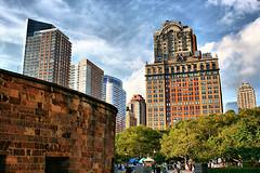 Downtown Manhattan from Battery Park (DP Photography) Tags: newyorkcity ferry batterypark newyorkskyline statueofliberty downtownmanhattan debashispradhan dpphotography hudsoncruises dp photography