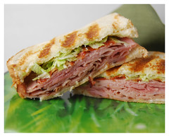 Ham Sandwich (mattsinopoli) Tags: food cheese bread bacon ham sandwich lettuce grilled