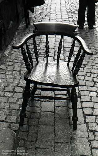 Old town chair on Tri-X