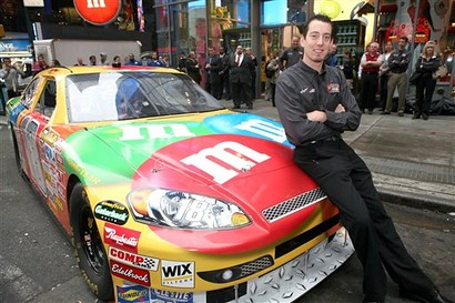 Kyle Busch with M&M's Toyota