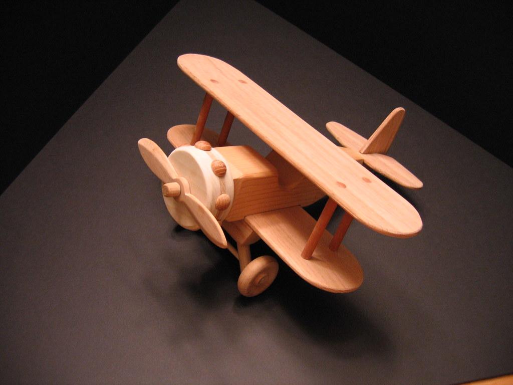 Children's Wooden Toy Biplane 1