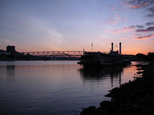 sunrise river cincinnati riverboat