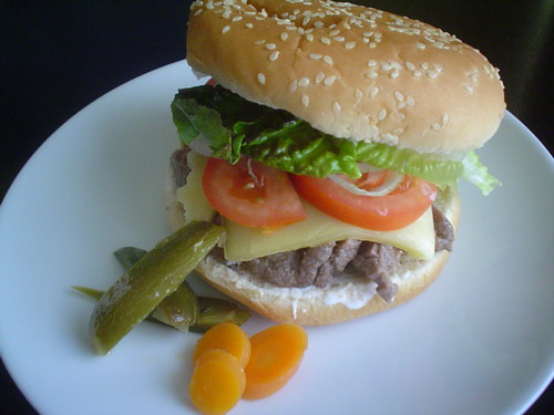 Hamburguesa de arrachera