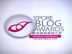 S'pore Blog Awards Ceremony