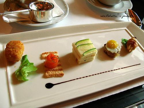 西華飯店Harrod's午茶之鹹食盤
