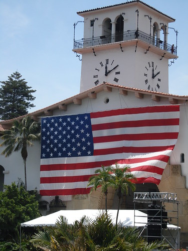 Santa Barbara Courthouse on July 4th by santa barbarian