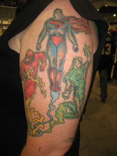 Flash, Superman & Green Lantern tattoos